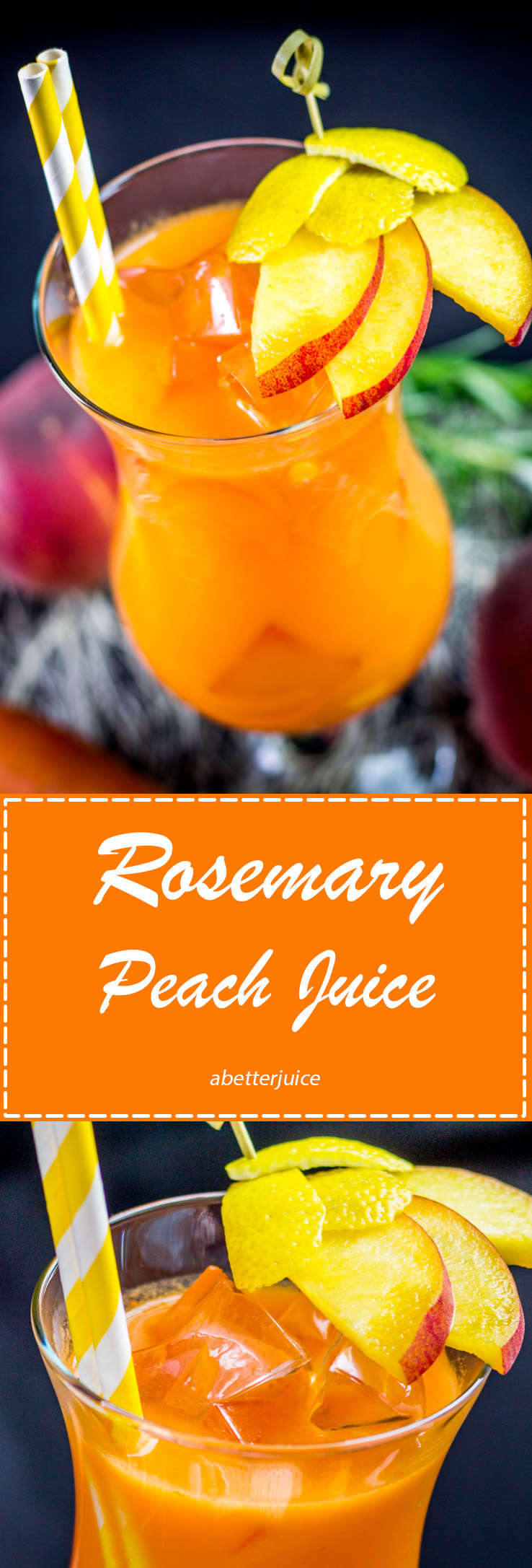 Rosemary Peach Juice Pinterest